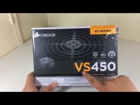 Corsair VS450 Power Supply Unboxing And Review