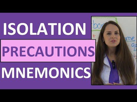 Isolation Precautions Nursing Mnemonics NCLEX | Contact, Droplet, Airborne Precautions PPE