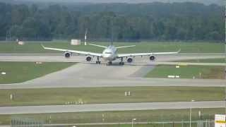 preview picture of video 'Airbus A340-600 landet in München (MUC)'