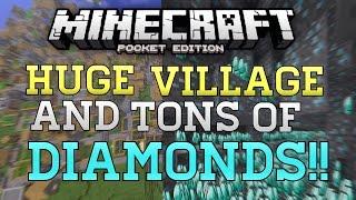 HUGE Village, DIAMONDS, & Dungeons Seed In MCPE! - Minecraft PE (Pocket Edition) BEST SEED!?