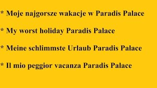 preview picture of video 'Paradis Palace, Hammamet,    CAŁA PRAWDA O HOTELU,   The whole truth about the hotel'