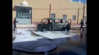 preview picture of video 'حريق سيارة ببشار burning car in debdaba bechar 1'