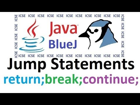 Jump Statements in Java Explained and demonstrated through BlueJ