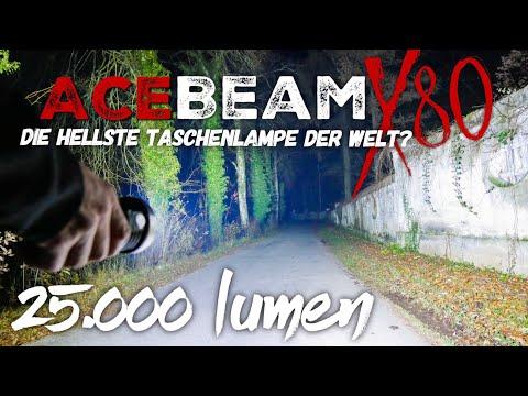 MEGA Taschenlampe !! mehr Licht geht nicht | 25.000 lumen - ACEBEAM X80 Review