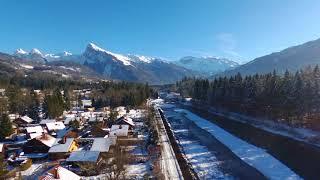 Les hameaux-du-Giffre début décembre (Verchaix en Haute-Savoie)