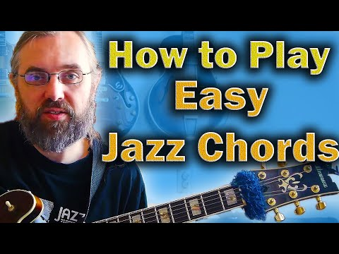 How to play Jazz Chords on Guitar - Easy way to learn the basic shapes