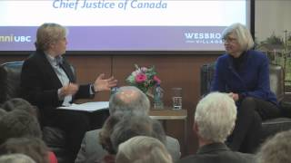 Wesbrook Talks – The Right Honourable Beverley McLachlin, P.C.