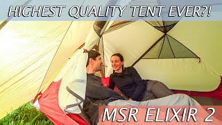 MSR ELIXIR 2-PERSON BACKPACKING TENT First Impressions Review|Highest quality affordable tent ever?!