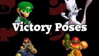Super Smash Bros. Melee - All Victory Animations (1080p 60fps)
