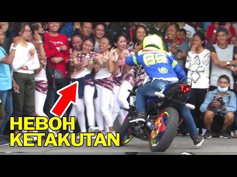 Wawan Tembong Full Terbaru - Endingnya Lucu!! Freestyle Motor Yamaha R6 dan MT25 (AMF 2016 Jogja)