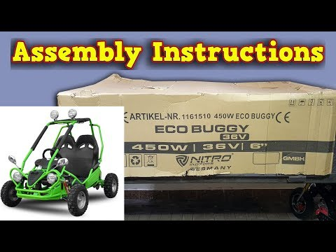 Electric Kids Buggy - Unboxing - Assembly Instructions