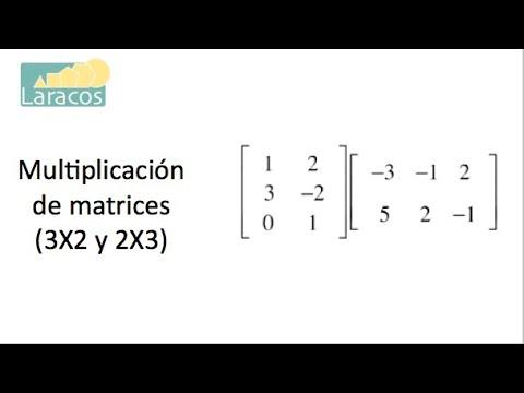 Multiplicación de matrices (3X2 y 2X3)