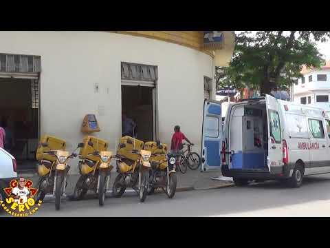 Ambulância da Terceirizada que Administra o Hospital de Juquitiba Socorre Munícipe na Agencia do Correio