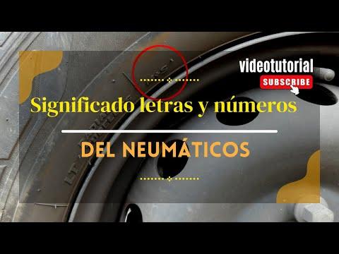 Cuando cambiar los neumáticos del coche. Caducidad y significado de letras y números