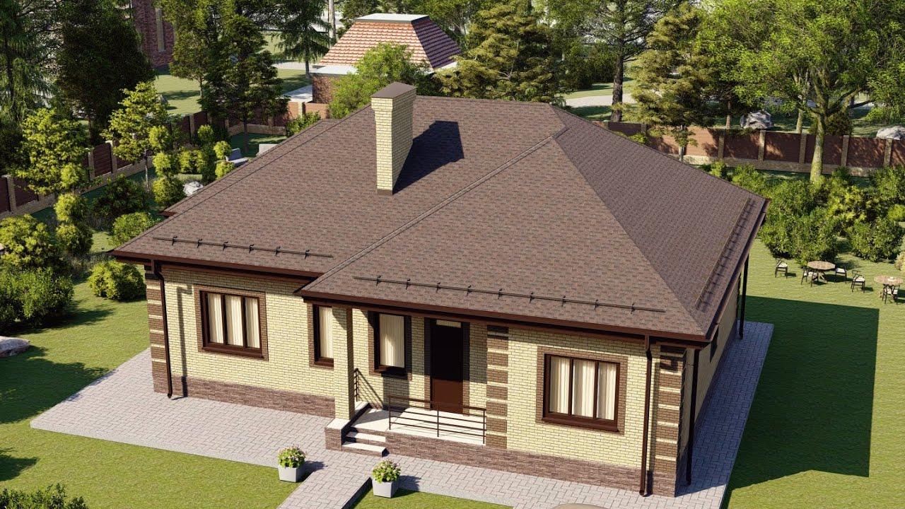 Одноэтажный просторный дом 109 м2 с двумя санузлами