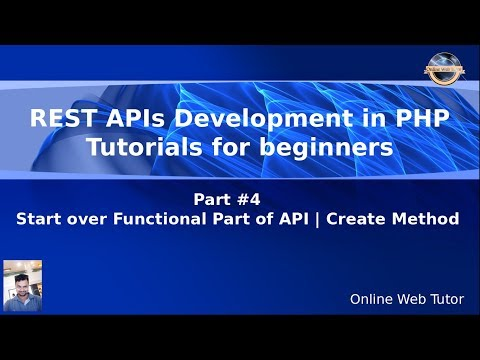 Learn REST APIs development in Core PHP Tutorials for Beginners #4 Functional Part   Create Method
