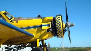 preview picture of video 'AIR TRACTOR 401B EN REALICO-PUESTA EN MARCHA'