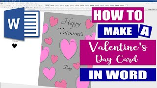 How to make a Valentines Day Card in Word | Simple design (2020)