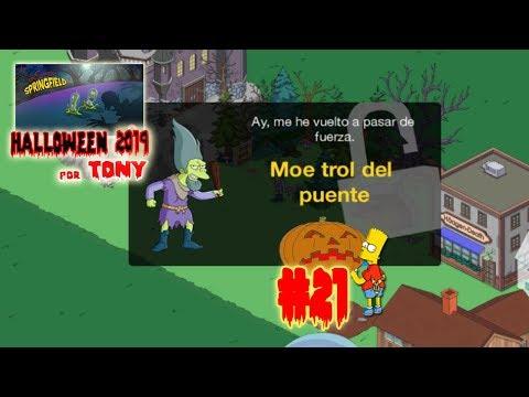 """Los Simpson Springfield """"Halloween'19: Cap. 21 - Moe trol del puente"""" por Tony"""