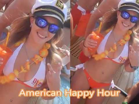 American Happy Hour Bikinis and Board Shorts