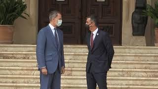Despacho de Su Majestad el Rey con el presidente del Gobierno, en el Palacio de Marivent