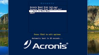 how to create acronis multiboot DVD or USB
