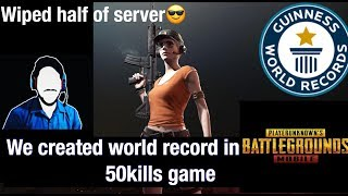 WORLD RECORD IN PUBG MOBILE II 50 KILLS GAME