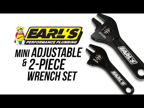 Earl's Mini AN Adjustable Wrench and 2-Piece Wrench Set