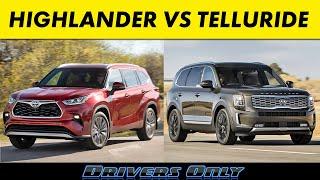 2020 Toyota Highlander vs 2020 Kia Telluride