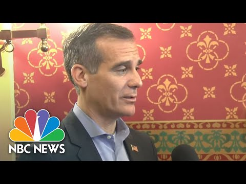 Garcetti Weighs In On The Democratic Party And President Trump's Targeting Of California | NBC News