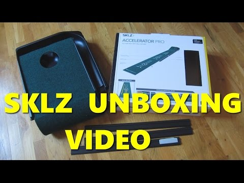 Unboxing SKLZ Accelerator Pro Golf Putting Green Mat Unboxing and Review