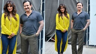 Saif Ali Khan and Chitrangada Singh on the Sstes of Nikhil Adwani's Movie Bazaar Pictures