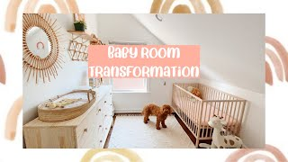Baby Girl Nursery Tour | Room Transformation