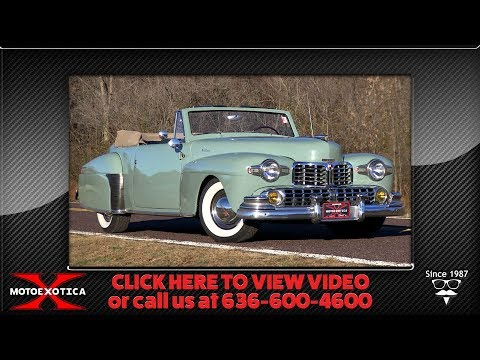 Video of Classic 1947 Continental located in St. Louis Missouri Offered by MotoeXotica Classic Cars - P7RD