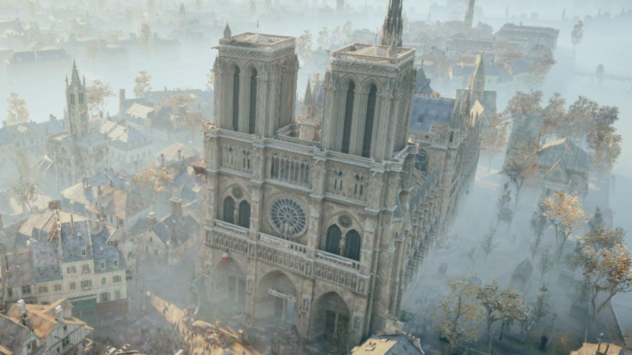 В восстановлении собора  Нотр-Дам де Пари поможет компьютерная игра