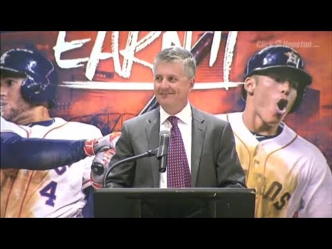 Jeff Luhnow speaks at Astros introductory press conference