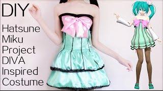 DIY Hatsune Miku Colorful Drop Cosplay Costume
