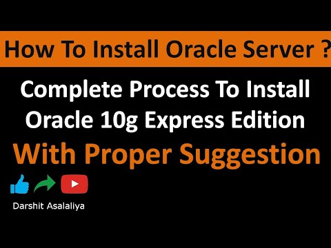 Download Oracle Database Express Edition On Windows Installing And
