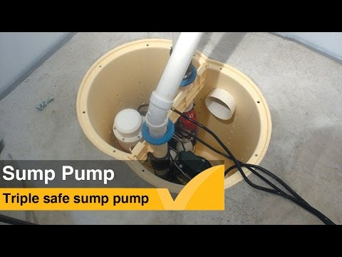 The TripleSafe™ sump system is a three-pump system with redundancy built in to ensure that water always gets to where it needs to be. It is designed to overcome problems such as power failure, pump failure and higher than normal volumes of water.