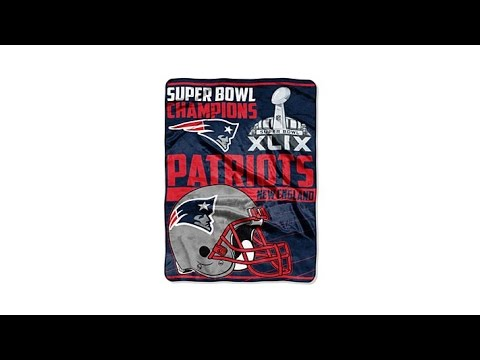 "Super Bowl XLIX Champions 60"" x 80"" Throw  Patriots"