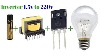 Download Video how to make inverter 1.5v to 220v simple circuit new technology exhibition MP3 3GP MP4