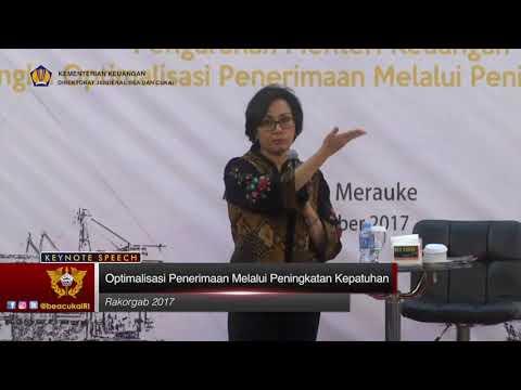 Keynote Speech Menteri Keuangan dalam Rakor Gabungan DJBC 2017