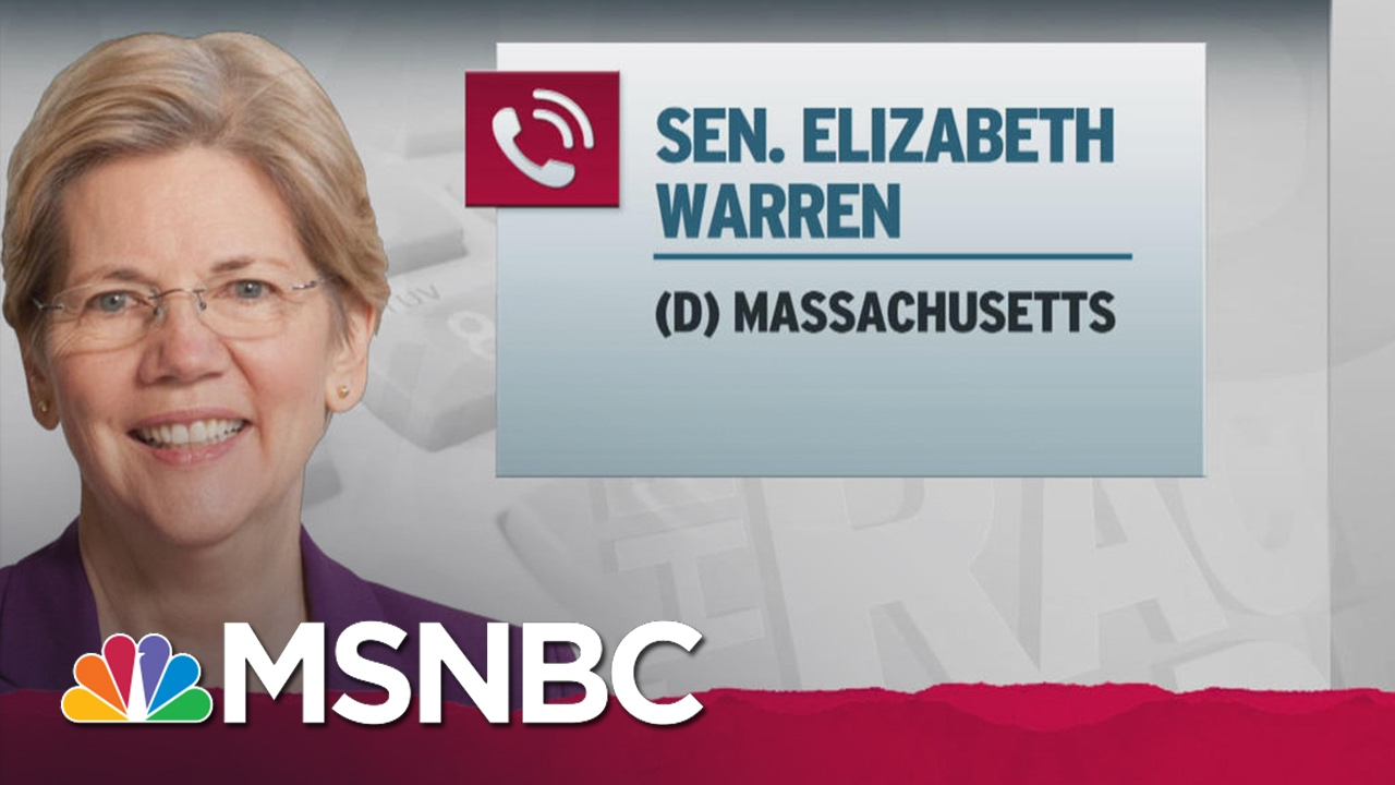 Elizabeth Warren To Maddow: 'I'm Not Allowed To Talk' About Jeff Sessions | Rachel Maddow | MSNBC thumbnail