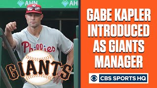 Gabe Kapler introduced as San Francisco Giants NEW manager | CBS Sports HQ