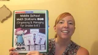 Middle School Math Stations 101 Guide {Organizing & Managing Grades 6-8}