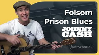 Folsom Prison Blues - Johnny Cash (Easy Songs Beginner Guitar Lesson BS-502) How to play