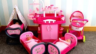 Baby Born Baby Annabell Lots Baby Dolls' nursery center Nursery Room , pretend play with baby dolls