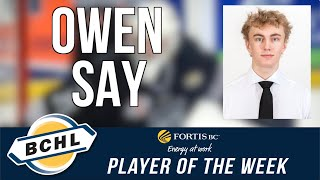 Fortis BC Player of the Week: Owen Say
