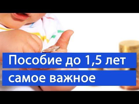 САМАЯ ВАЖНАЯ ИНФОРМАЦИЯ о пособии по уходу за ребенком до 1,5 лет//С ИЗМЕНЕНИЯМИ 2020