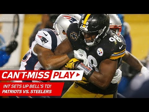 Pittsburgh Picks Off Brady for the 1st Time Since 2005 & Bell's TD! | Can't-Miss Play | NFL Wk 15